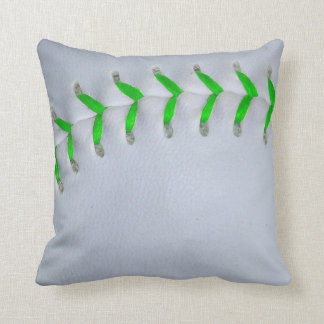 Béisbol/softball verdes claros de las puntadas cojines