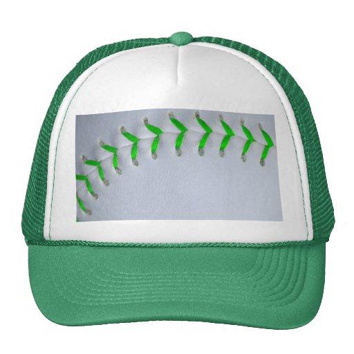 Béisbol/softball verdes claros de las puntadas gorra
