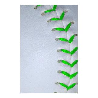 Béisbol/softball verdes claros de las puntadas papeleria