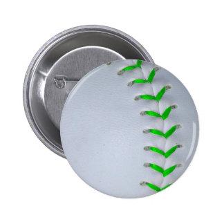 Béisbol/softball verdes claros de las puntadas pin