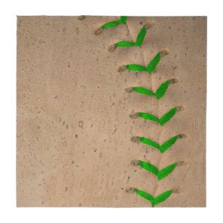 Béisbol/softball verdes claros de las puntadas posavasos