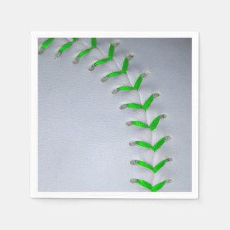 Béisbol/softball verdes claros de las puntadas servilletas desechables