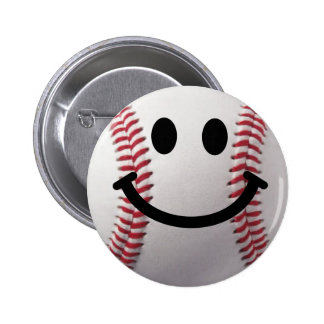 béisbol sonriente pin