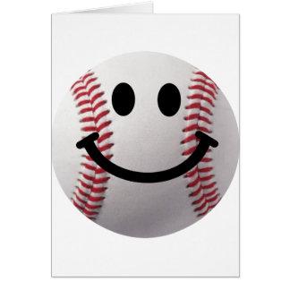béisbol sonriente tarjeta de felicitación