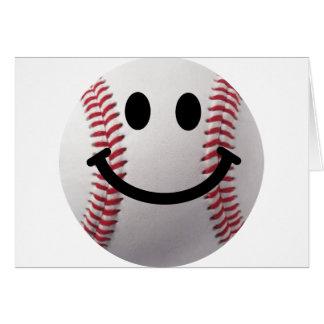 béisbol sonriente tarjetas