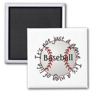 Béisbol-su no apenas un juego imán cuadrado