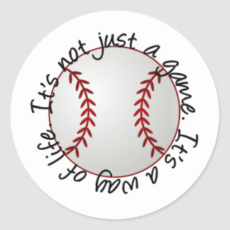 Béisbol-su no apenas un juego pegatina redonda