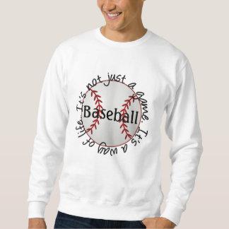 Béisbol-su no apenas un juego sudadera con capucha