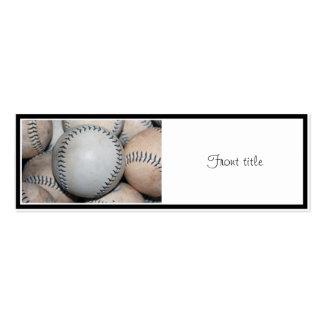 Béisbol superior tarjetas de visita mini