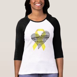 Béisbol T de la conciencia del suicidio Camisetas