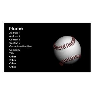 béisbol tarjetas de visita