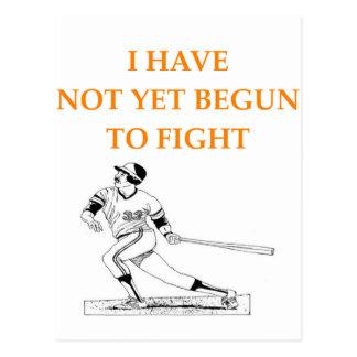 béisbol tarjetas postales