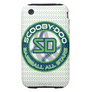 Béisbol todas las estrellas - azul iPhone 3 tough fundas