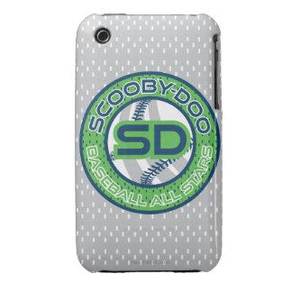 Béisbol todas las estrellas - verde Case-Mate iPhone 3 protector