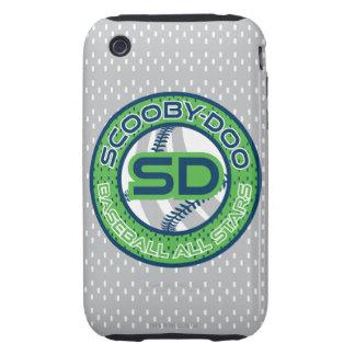 Béisbol todas las estrellas - verde tough iPhone 3 cárcasas