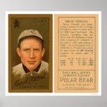 Béisbol total 1911 de Orval Cubs Posters