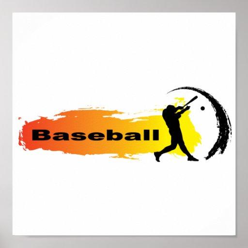 Béisbol único póster