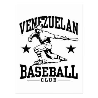 Béisbol venezolano tarjeta postal