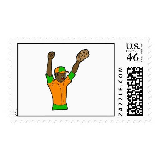 Béisbol verde anaranjado