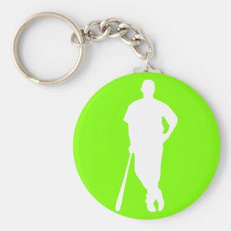 Béisbol verde chartreuse de neón llavero personalizado