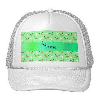 Béisbol verde claro conocido personalizado gorros bordados