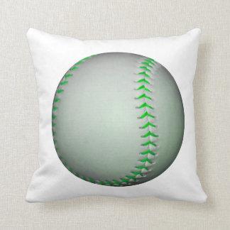 Béisbol verde claro de las puntadas almohada