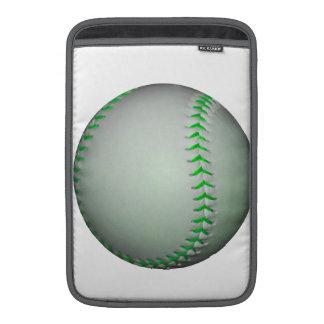 Béisbol verde claro de las puntadas funda macbook air