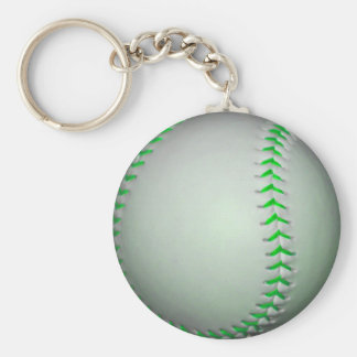Béisbol verde claro de las puntadas llavero