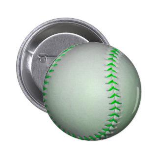 Béisbol verde claro de las puntadas pin