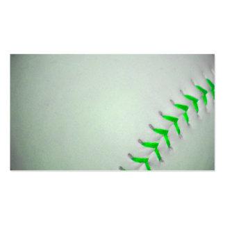 Béisbol verde claro de las puntadas plantillas de tarjetas personales