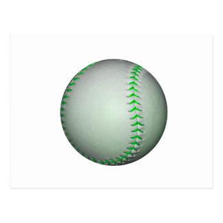 Béisbol verde claro de las puntadas postales