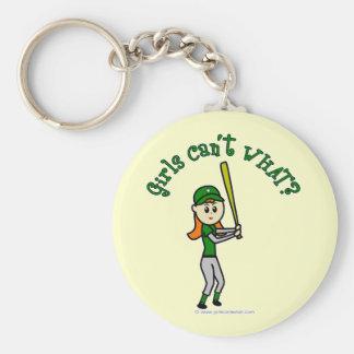 Béisbol verde claro llavero