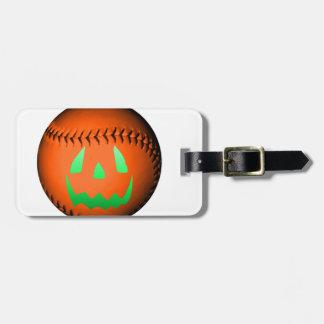 Béisbol verde de la linterna de Jack O del resplan Etiquetas Bolsas