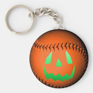 Béisbol verde de la linterna de Jack O del resplan Llaveros