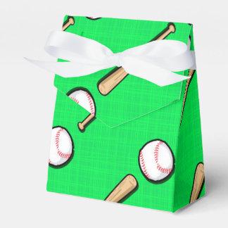 Béisbol verde de neón, modelo del softball caja para regalos