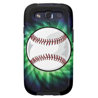 Béisbol verde galaxy s3 cárcasas