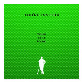 """Béisbol verde invitación 5.25"""" x 5.25"""""""