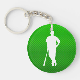 Béisbol verde llavero