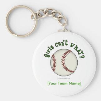 Béisbol-Verde Llaveros Personalizados