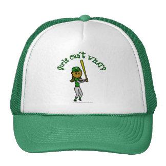 Béisbol verde oscuro de los chicas gorro de camionero