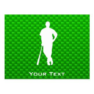 Béisbol verde postales