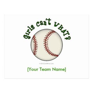 Béisbol-Verde Tarjetas Postales
