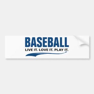 Béisbol: Vive. Ámelo. Juegúelo Pegatina Para Auto