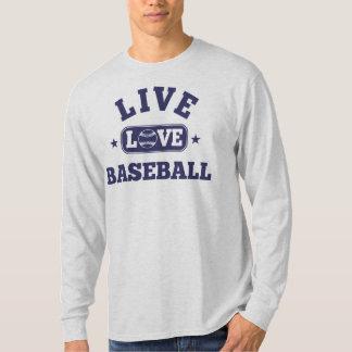Béisbol vivo del amor playeras