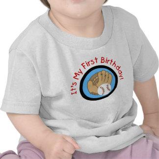 Béisbol y 1ras camisetas y regalos del cumpleaños
