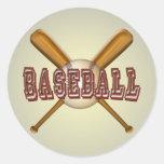 Béisbol y bates de béisbol cruzados pegatinas