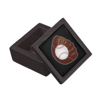 Béisbol y caja de regalo del guante caja de joyas de calidad
