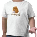 Béisbol y camisa del niño del tiempo de verano del