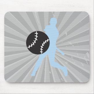 béisbol y diseño gráfico de la silueta del jugador alfombrilla de raton