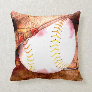 Béisbol y estilo del Grunge del guante Almohadas